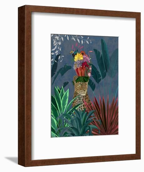 Leopard with Headdress-Fab Funky-Framed Art Print