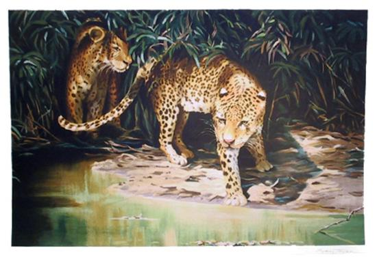 Leopards out of Shadows-Sydney Taylor-Limited Edition