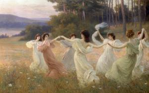 Dancing Maidens by Leopold Franz Kowalsky
