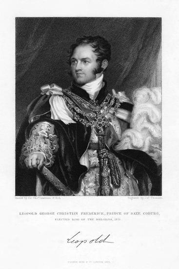 Leopold of Saxe-Coburg and Gotha, 1831-J Thomson-Giclee Print