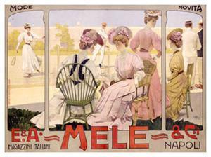 E&A Mele, Tennis by Leopoldo Metlicovitz