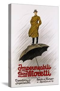 Impermeabili Moretti Umbrella Poster by Leopoldo Metlicovitz