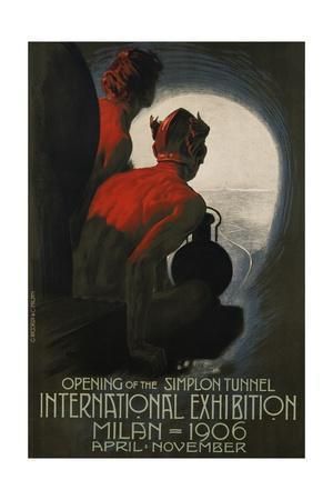 International Exhibition, Milan, 1906 Poster