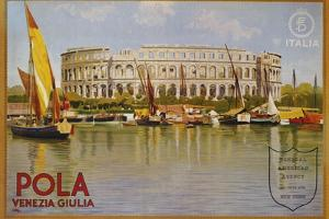 Pola Venezia Giulia Poster by Leopoldo Metlicovitz