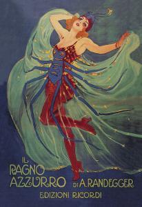 Ragno Azzurro (The Blue Spider) by Leopoldo Metlicovitz