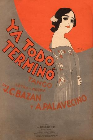 Ya Todo Termino Tango Music Sheet Cover
