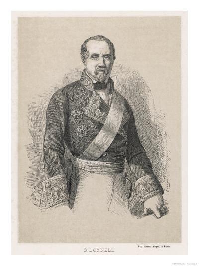 Leopoldo O'Donnell Conde De Lucena Spanish Marshall and Politician of Irish Descent- Cillot-Giclee Print