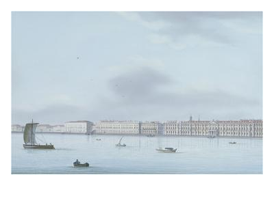 A View of St. Petersburg; the Winter Palace and the Neva River