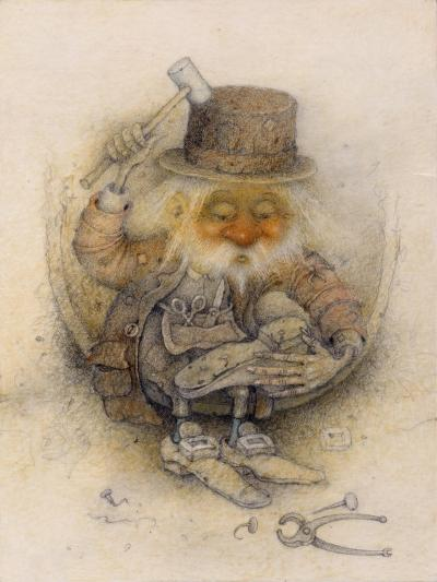 Leprechaun Cobbler-Wayne Anderson-Giclee Print