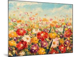 Original Oil Painting of Flowers,Beautiful Field Flowers on Canvas. Modern Impressionism.Impasto Ar by Lera Art