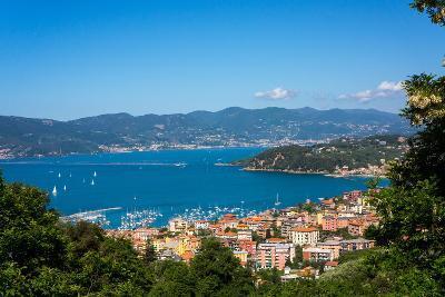 Lerici, View Overlooking Town and Bay, Liguria, Italy, Europe-Peter Groenendijk-Photographic Print