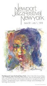 Newport Jazz Festival New York (Lady) by LeRoy Neiman