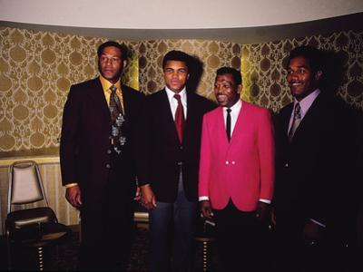 Muhammad Ali and Famous Athletes, January 1971