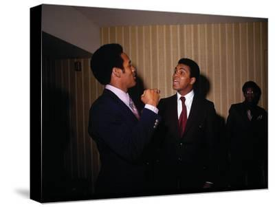 Muhammad Ali with Football Star O.J. Simpson, January 1971