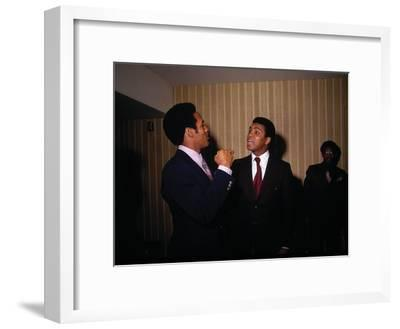 Muhammad Ali with Football Star O.J. Simpson, January 1971