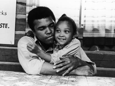 Muhammad Ali,  with His Daughter Maryum, 1974