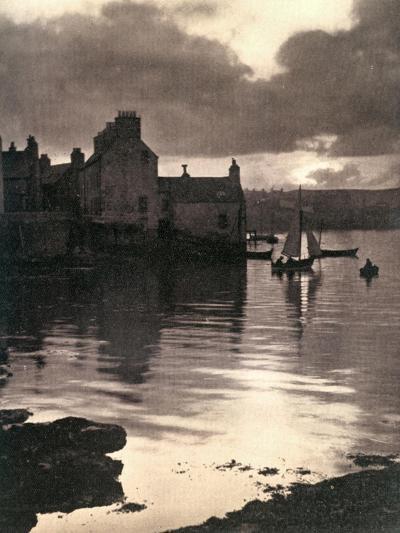 Lerwick Harbour, Shetland, Scotland, 1924-1926-JD Rattar-Giclee Print