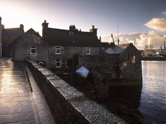 Lerwick Seafront, with Wharves and Slipways, Lerwick, Mainland, Shetland Islands, Scotland, UK-Patrick Dieudonne-Photographic Print