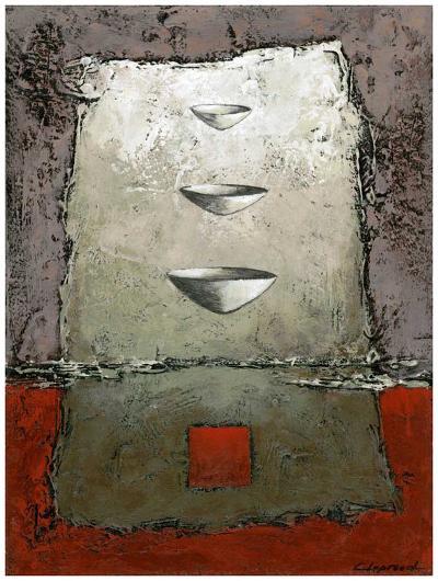 Les 3 vases-Marie Claprood-Art Print