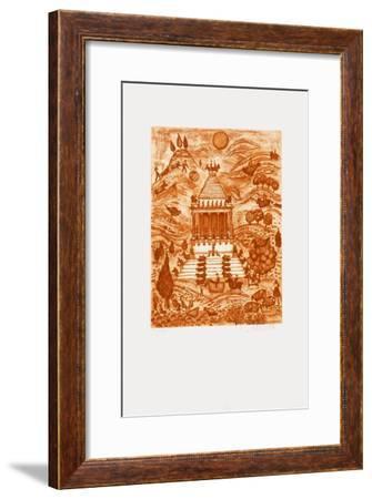Les 7 Merveilles Du Monde - HaIIcernasse-Françoise Deberdt-Framed Limited Edition