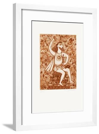 Les 7 Merveilles Du Monde - Zeus-Fran?oise Deberdt-Framed Limited Edition