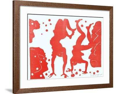 Les acrobates jongleurs-Jacques Lagrange-Framed Limited Edition