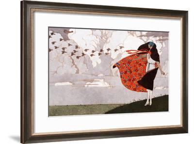 Les Ailes Dans Le Vent, Paris, France, Early 20th Century--Framed Giclee Print