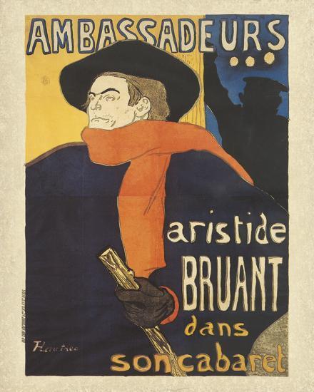 Les Ambassadeurs: Aristide Bruant-Henri de Toulouse-Lautrec-Art Print