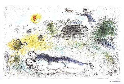 Les amoureux a l'isba-Marc Chagall-Collectable Print