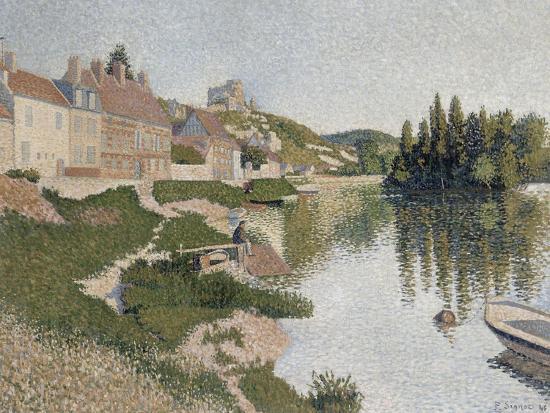 Les Andelys, la berge-Paul Signac-Giclee Print