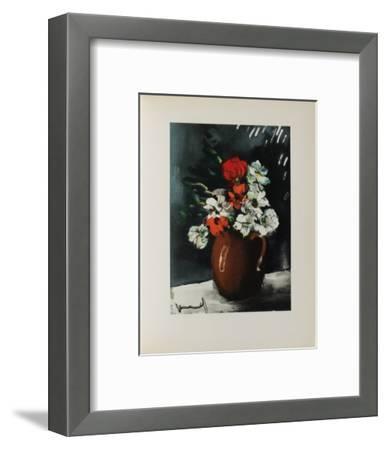 Les Anemones, 1955-Maurice De Vlaminck-Framed Collectable Print