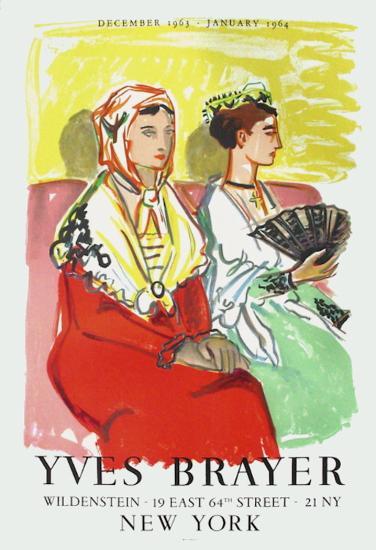 Les Arlésiennes Aux Robes De Couleur-Yves Brayer-Collectable Print