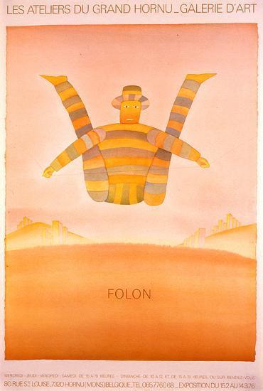 Les Ateliers Du Grand Hornu-Jean-Michel Folon-Art Print