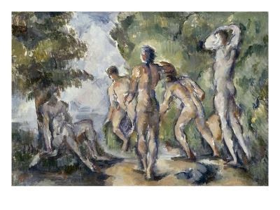 Les baigneurs-Paul C?zanne-Giclee Print