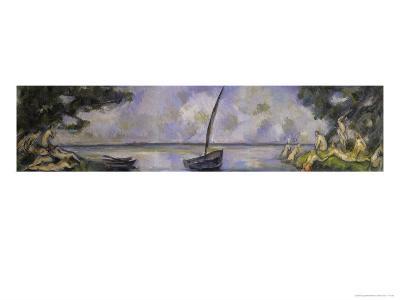 Les Baigneuses et La Barque-Paul C?zanne-Giclee Print