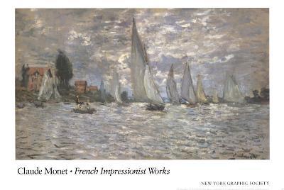 Les Barques, Regates a Argenteuil-Claude Monet-Art Print