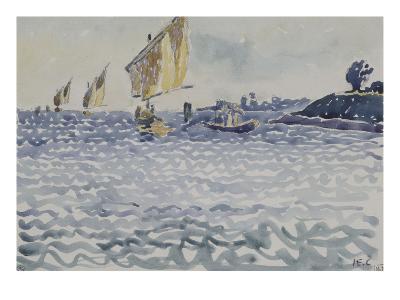 Les Barques-Henri Edmond Cross-Giclee Print