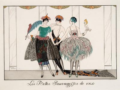 Les Belles Sauvagesses De 1920-Georges Barbier-Giclee Print