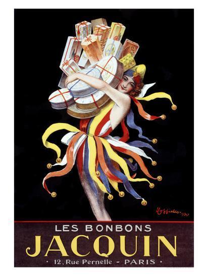 Les Bonbons Jacquin-Leonetto Cappiello-Giclee Print