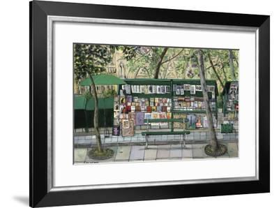 Les Bouquinistes, Paris-Isy Ochoa-Framed Giclee Print