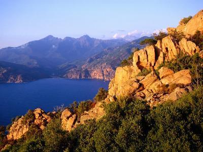 Les Calanques, Rocky Inlets Towering 400 Metres Above Golfe De Porto, Piana, Corsica, France-Tony Wheeler-Photographic Print