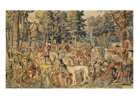 """Les Chasses de Maximilien dites """"Belles chasses de Guise""""-Orley Barend Van-Giclee Print"""