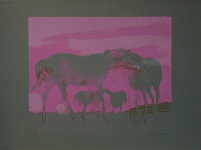Les Chevaux Blancs-Paul Guiramand-Limited Edition