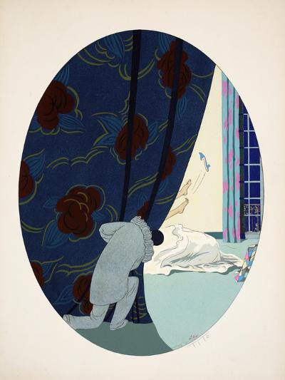 Les Cinq Sens - L'Ouïe, La Vue, L'Odorat, Le Toucher Et Le Goût, Pub. Paris, 1925-Ettore Tito-Giclee Print