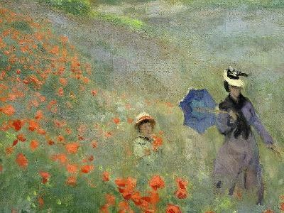 Les Coquelicots, Environs D'Argenteuil, Poppies Near Argenteuil, 1873, Detail-Claude Monet-Giclee Print