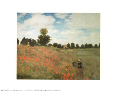 Les Coquelicots-Claude Monet-Art Print