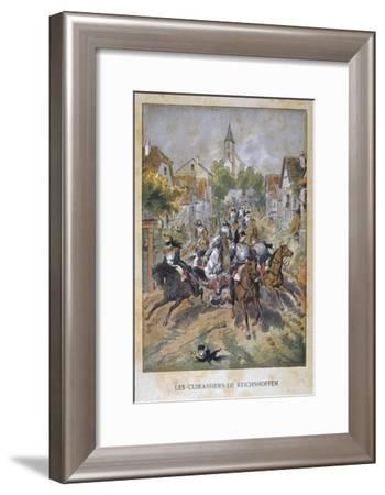 Les Cuirassiers De Reichshoffen, 6th August 1870, Franco-Prussian War, 1870-1871--Framed Giclee Print