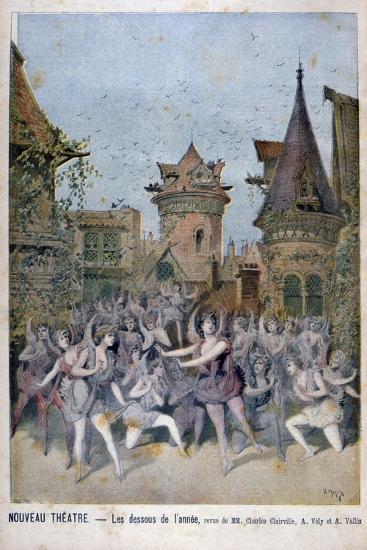 Les Dessous De L'Annee, Revue at the Nouveau Theatre, 1896-Henri Meyer-Giclee Print