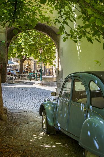 Les Deux Chevaux. Place Favier, Saint Remy De-Provence, France-Brian Jannsen-Photographic Print