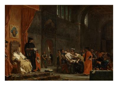 Les deux Foscari-Eugene Delacroix-Giclee Print